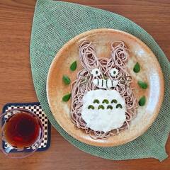 お昼ごはん/昼食/ランチ/ざるそば/そば/となりのトトロ/... となりのトトロ(◔罒◔)  トロロ使って…