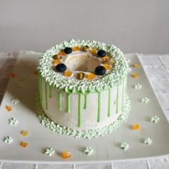 おうちカフェ/手作りケーキ/お菓子作り/手作りお菓子/手作り/雨季ウキフォト投稿キャンペーン/... ピスタチオシフォンケーキを焼きました^ ^
