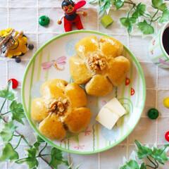おうちカフェ/手ごねパン/手作りパン/雨季ウキフォト投稿キャンペーン/令和の一枚/フォロー大歓迎/... くるみパンを焼きました😊