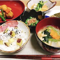 日本/味噌汁/ご飯/煮物/和食器/和食/... とある日の和食😋