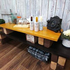 DIY/ペイント/簡単DIY/DIY工具/DIY材料/自然素材/... 木材とレンガで、簡単にラック作り  マッ…