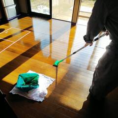 DIY/ペイント/簡単DIY/DIY工具/DIY材料/セルフペイント/... フローリングの補修、塗り替える時には 「…