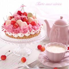 クチポールゴア/ナチュラルキッチン/エディブルフラワー/タルト/さくらんぼ/スイーツ/... 可愛いピンクのカーネーションのエディブル…