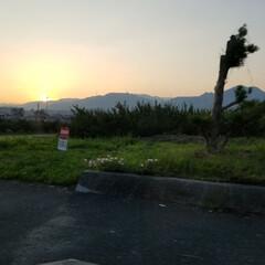 おでかけワンショット/自然/夕日/夕陽/雨季ウキフォト投稿キャンペーン/令和の一枚/... 夕日がきれい😌