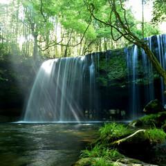 熊本県/一人旅/三度の飯より旅行好き/旅行/LIMIAおでかけ部/おでかけワンショット 念願の熊本県の鍋が滝ー🏞️ 写真は‥頑張…