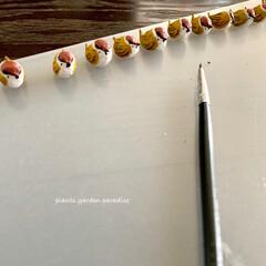 ハンドメイド作家/ハンドメイド/プランツガーデンパラダイス/plantsgardenparadise/陶器粘土/樹脂粘土/... スズメさん達の整列✨ ミンネとクリーマに…