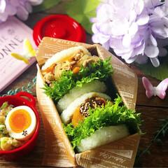 カンカン弁当/ライスバーガー/オベンター/お弁当作り楽しもう部/豊かな食卓/手作り弁当/... ✧*̣̩⋆̩ᵍᵒᵒᵈ ᵐᵒʳᐢⁱᐢᵍ ☁…(2枚目)