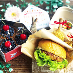 豊かな食卓/手作り弁当/ランチ/今日のデザート/今日のごはん/ハンバーガー弁当/... . ✧*̣̩⋆̩ᵍᵒᵒᵈ ᵐᵒʳᐢⁱᐢᵍ…