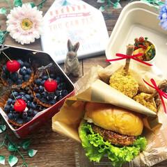 豊かな食卓/手作り弁当/ランチ/今日のデザート/今日のごはん/ハンバーガー弁当/... . ✧*̣̩⋆̩ᵍᵒᵒᵈ ᵐᵒʳᐢⁱᐢᵍ…(2枚目)