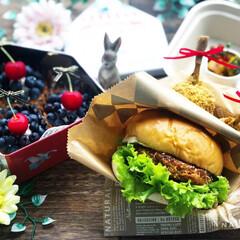 豊かな食卓/手作り弁当/ランチ/今日のデザート/今日のごはん/ハンバーガー弁当/... . ✧*̣̩⋆̩ᵍᵒᵒᵈ ᵐᵒʳᐢⁱᐢᵍ…(3枚目)