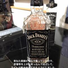 ジャックダニエル ブラック Old No.7 3000ml 40% 箱入り 1ケース6本入り 正規(バーボン、アメリカン)を使ったクチコミ「ボトルライト作りました! ものが揃えば1…」(7枚目)