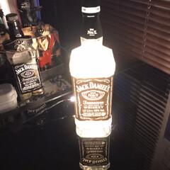 ジャックダニエル ブラック Old No.7 3000ml 40% 箱入り 1ケース6本入り 正規(バーボン、アメリカン)を使ったクチコミ「ボトルライト作りました! ものが揃えば1…」(1枚目)