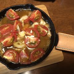 料理は苦手/お酒の肴/ニトリ 先日買ったニトスキでサバ缶使ってアヒージ…(1枚目)