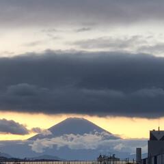 富士山/空/夕日 今日の夕焼け富士山🗻 久しぶりに見れて癒…