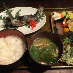 LIMIAごはんクラブ/こんがりグルメ また食べ魔に行きたい、岩魚塩焼き定食。(1枚目)