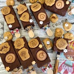 ブラウニー/美味しい/手作りおかし/お菓子作り/令和の一枚/フォロー大歓迎/... ジャキーのブラウニー✨ 可愛いビスケット…