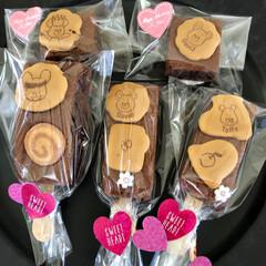 ブラウニー/美味しい/手作りおかし/お菓子作り/令和の一枚/フォロー大歓迎/... ジャキーのブラウニー✨ 可愛いビスケット…(2枚目)
