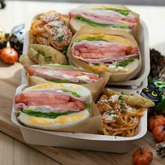 わんぱくサンドイッチ/サンドイッチ/お弁当/朱色 𓀀𓀀𓀀お弁当menu𓀃𓀃𓀃𓀃   …(1枚目)