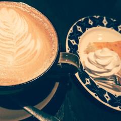 ご褒美スイーツ/至福/チーズ大好き/コーヒー大好き/カフェタイム/カフェラテ/... カフェラテと              …