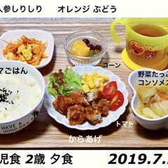 イヤイヤ期/食べムラ/2歳/幼児食/こどもごはん/おうちごはん/... . 2019.7.2 こどもごはん😋🍚 …