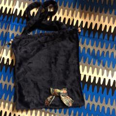 モフモフ/巾着/トートバック/エコバッグ/雑貨/ハンドメイド/... モフモフ布地のエコバッグ作ってみました。…