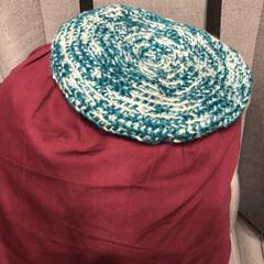 かぎ針編み/引き揃え編み物/ベレー帽/毎日ハンドメイドチャレンジ 今日のハンドメイドチャレンジ❣️  すみ…(2枚目)