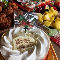 ホワイトチョコ生ケーキ/Christmas party/クリスマス2019 ちょっっぴり早いけど、Christmas…