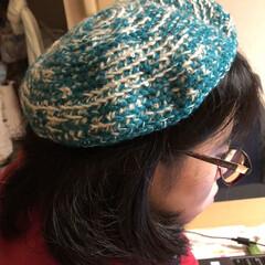 かぎ針編み/引き揃え編み物/ベレー帽/毎日ハンドメイドチャレンジ 今日のハンドメイドチャレンジ❣️  すみ…