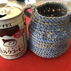 熱くならない/暖か飲料/スリーブ/引き揃え編み物/毎日ハンドメイドチャレンジ/ダイソー/... 今日のハンドメイド❣️  昨日の続き。 …