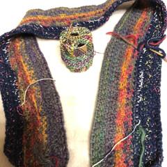 引き揃え編み物/1日1個ハンドメイドチャレンジ 今日のハンドメイドチャレンジ❣️  引き…