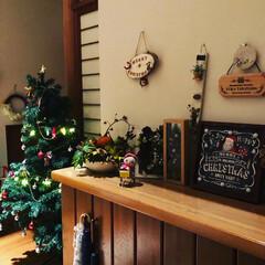 クリスマス仕様/クリスマスインテリア/クリスマス準備/クリスマス雑貨/ダイソー/セリア/... クリスマス準備終わりましたー ツリーとパ…