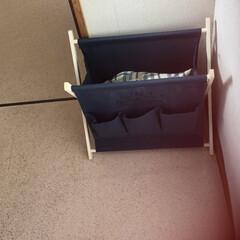 プチストレス/一階と二階行ったり来たり/アイロンがけ/DAISO/ランドリーバスケット/洗濯/... みぃつけた‼️ ランドリーボックス 1枚…