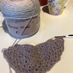 ばあちゃんの誕生日プレゼント/三角ショール編み始め/かぎ針編み/リップケース/週末はマルシェ/ハンドメイド/... 年末年始に大阪行ってたので、ユザワヤで買…