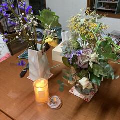 お香/癒しの空間/アロマ/お花屋さんやスーパーで購入/お花/アロマキャンドル/... おうち時間を楽しむためにしてることは 食…(1枚目)