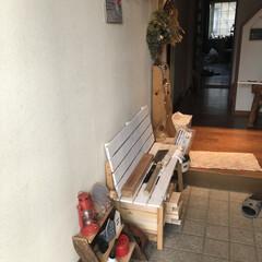 我が家の暮らし/フラワーアレンジメント教室/玄関/スクラッチアート/赤ずきんちゃん/看板/... 我が家の玄関 ほぼ100均です笑笑 1枚…(2枚目)