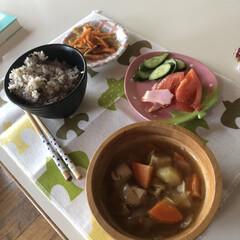 おうちごはん/ランチ/簡単 今日のお昼ご飯 肉じゃが定食🎵 メインは…
