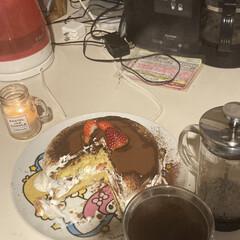 実はお菓子作りは新年2発目/アロマキャンドル/コーヒー/ちょいと誤魔化した節あり/いちごショートケーキ/お菓子作り/... お菓子作り新年1発目?と思いや2発目です…(1枚目)