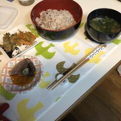 リボンの練習/Seria/半額/カツオのタタキ/夕飯豚/リボン/... 1枚目 今日の夕飯です かつおーかつおー…