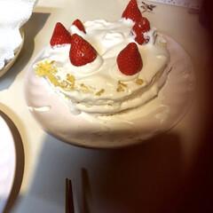 誕生日パーティー/誕生日ケーキ/ハンドメイド/節約 今日はお誕生日でした(幾つになったかは秘…
