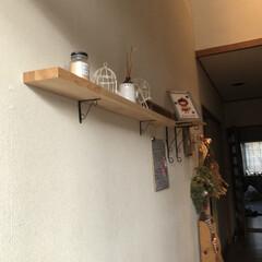 我が家の暮らし/フラワーアレンジメント教室/玄関/スクラッチアート/赤ずきんちゃん/看板/... 我が家の玄関 ほぼ100均です笑笑 1枚…(3枚目)