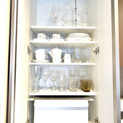 食器棚収納/収納/キッチン/暮らし 食器棚の中を、LIMIAではあまり投稿し…(1枚目)