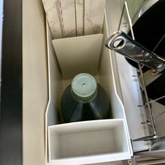 ファイルボックス/鍋の収納/フライパン収納/ラップ収納/ラップ/キッチン収納/... ラップ収納について。 我が家では、コンロ…(2枚目)