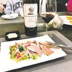 ワイン/おうちごはんクラブ/おうちごはん/ニトリ/ごはん 夫がご飯要らないというので、手抜きの夕食…