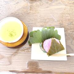桜餅/和菓子/フォロー大歓迎 整理収納サポートのお客様宅で、美味しい和…(1枚目)