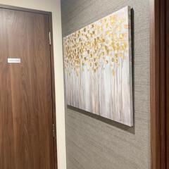 アートパネル/アート/玄関/暮らしを楽しむ 玄関に新しいアートを飾りました。 マンシ…(2枚目)