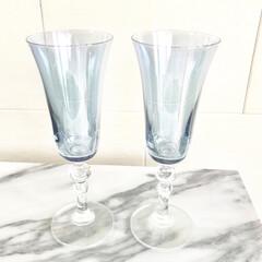 お気に入り/グラス/食器/シャンパングラス 友人から結婚祝いに戴いたシャンパングラス…