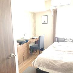 ベッドルーム/フォロー大歓迎/インテリア/住まい あんまり公開しない寝室です。 ずっと変わ…(1枚目)
