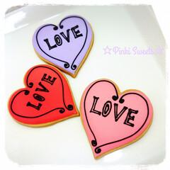 バレンタインスイーツ/バレンタインギフト/手作りスイーツ/クッキー/LIMIAスイーツ愛好会/フォロー大歓迎/... 以前作ったバレンタインアイシングクッキー…