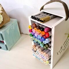 コピック/DIY/雑貨/収納/ハンドメイド 子供に頼まれて作ったコピック収納