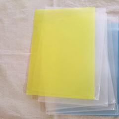 書類整理/クリアホルダー/片付け/収納/整理/文房具 書類整理に使っていたクリアホルダー。 よ…